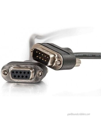 C2G 52161 Serial RS232 DB9 Cable with Low Profile Connectors M F in-Wall CMG-Rated Black 25 Feet 7.62 Meters