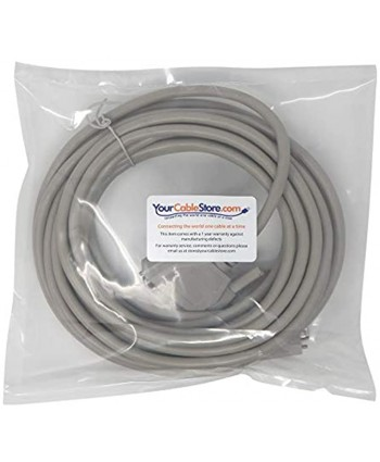 Your Cable Store 25 Foot DB25 25 Pin Serial Port Cable Male Male RS232