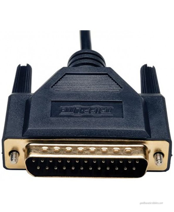 Tripp Lite Null Modem Serial RS232 Cable DB9 to DB25 F M 6-ft. P456-006