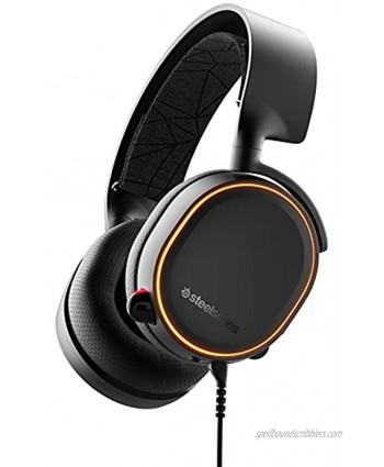 SteelSeries Arctis 5 Gaming Headset RGB Illumination DTS Headphone:X v2.0 Surround for PC and PlayStation 4 Black [2019 Edition]
