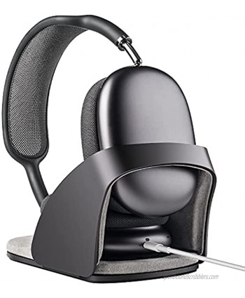 SUPERONE Headphone Stand Designed for AirPods Max Headset Holder with Hibernating Base AirPods Max Stand Aluminum Alloy Grey