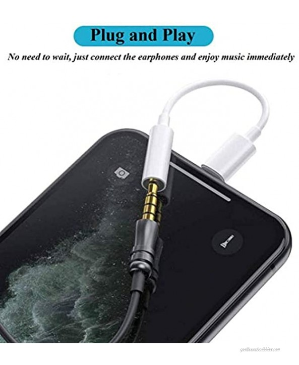 2 Pack [Apple MFi Certified] for iPhone 3.5mm Headphones Adapter Lightning to 3.5 mm Headphone Earphone Jack Converter Audio Aux Adapter Dongle for iPhone 12 11 SE 2020 XR XS X 8 7 Support iOS 14