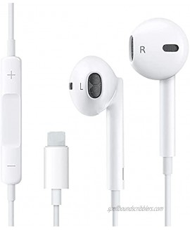 Earbuds Headphones Wired Earphones with Microphone and Volume Control Compatible with iPhone 12 11 Pro Max Xs Max XR X 7 8 Plus