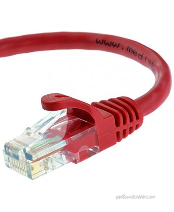 Mediabridge Ethernet Cable 15 Feet Supports Cat6 Cat5e Cat5 Standards 550MHz 10Gbps RJ45 Computer Networking Cord Part# 31-599-15B