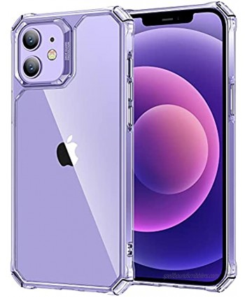 """ESR Air Armor Compatible with iPhone 12 Mini Case [Military-Grade Drop Protection][Shock-Absorbing Corners] [Anti-Yellowing Hard Back] [Scratch Resistant] [Flexible Frame] 5.4"""" Crystal Clear"""