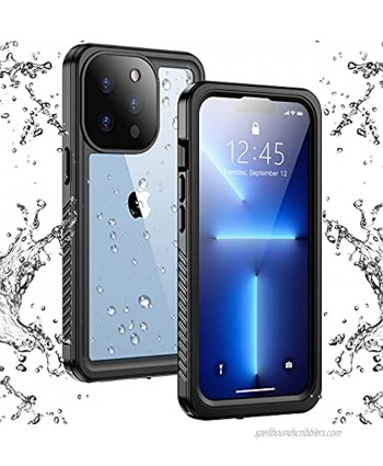 Temdan Compatible with iPhone 13 Pro Max Case Waterproof Built in Screen Protector Full Body Rugged Heavy Duty Protection Anti-Scratched Shockproof Protective Case for iPhone 13 Pro Max 6.7 inch