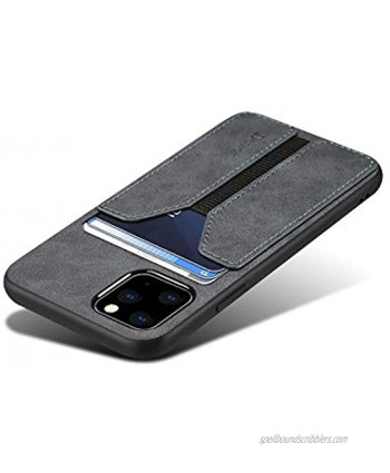 SUTENI iPhone 12 Wallet case iPhone 12 Pro Wallet Case iPhone 12 Pro Wallet Case Slim Credit Card Slot Holder Case PU Leather Wallet Case Compatible with iPhone 12 Pro 2020 6.1 inch Gray