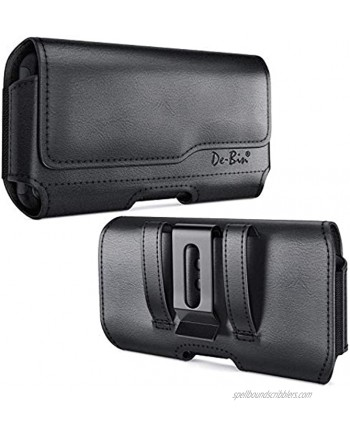 De-Bin Belt Holster Designed for iPhone 12 Pro Max  11 Pro Max Xs Max 8 Plus 7 Plus 6s Plus Belt Case with Belt Clip Phone Belt Holder Pouch Compatible with iPhone Otterbox Battery Case on