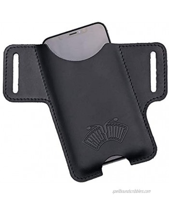 EASYANT Men Leather Phone Holster Universal Case Waist Bag Purse with Belt Hole