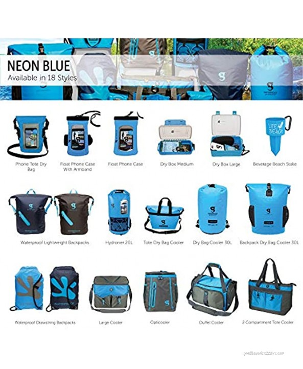 geckobrands Float Phone Dry Bag with Arm Band Neon Blue