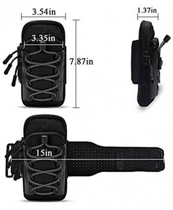 Goograin Running Phone Holder Armbands Arm Bands for Cell Phone Armband Case for Running Outdoor Reflective Phone Sports Wristband