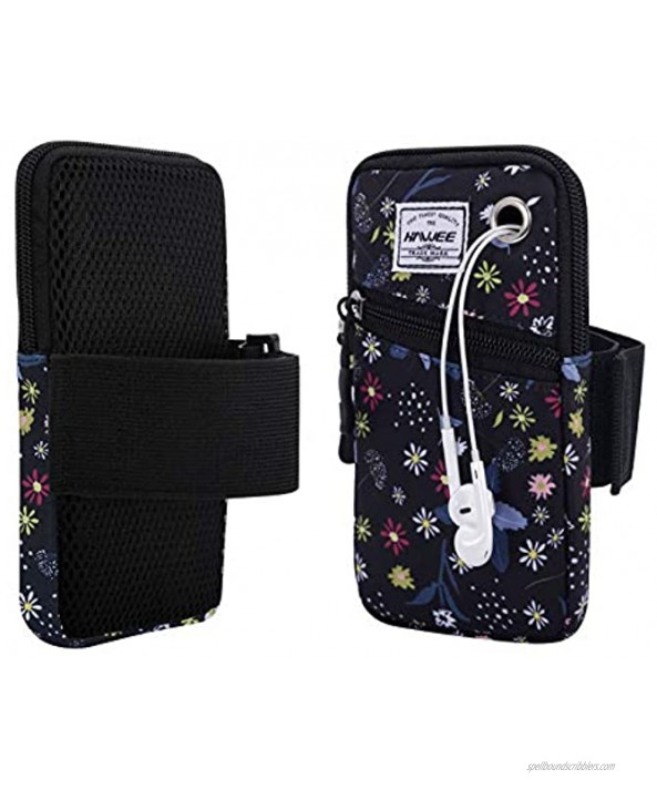 HAWEE Cell Phone Arm Pack for Women Running Pouch Bag 6.28in Cellphone Armbands Floral