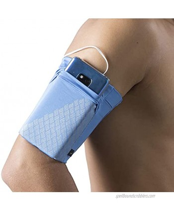 HiRui Universal Sports Armband Cell Phone Armband Sleeves Running Armband for Exercise Workout Compatible with iPhone 12 12Pro Mini iPhone 11 11Pro Samsung Galaxy All Phones Blue Medium