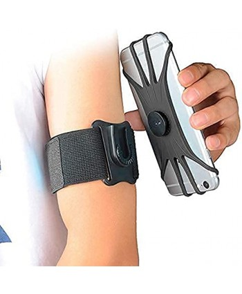 Phone Running Armband Phone Holder 2 in 1 Arm Band Wrist Band for All iPhone All Samsung Phone All Huawei All Google Xiaomi LG Black fits for 4.0'' 7.0'' Smartphone with Free Extender Strap