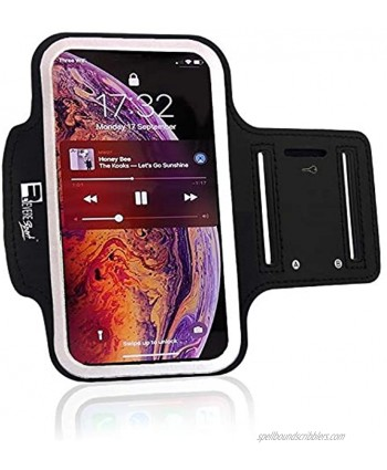 RevereSport iPhone XR Armband. Sports Phone Case Holder for Running Gym Workouts