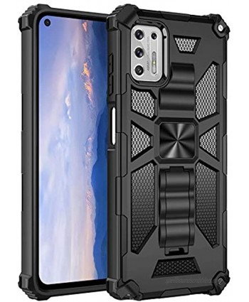 Case for Moto G Stylus2021,Military Rugged Cover Armor Hard PC + Shockproof TPU Protective Bumper Shell Protection Cases with Kickstand[Fits Magnetic Car Mount] for Moto G Stylus Black G Stylus