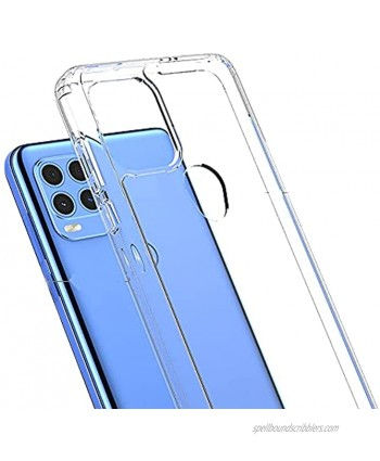 Ftonglogy Cell Phone Case for Moto G Stylus 2021 5g Crystal Slim Air Buffer Clear TPU [Drop Proof]+ PC Shockproof Phone Protective Case Cover for Moto G Stylus 5G 2021 Clear