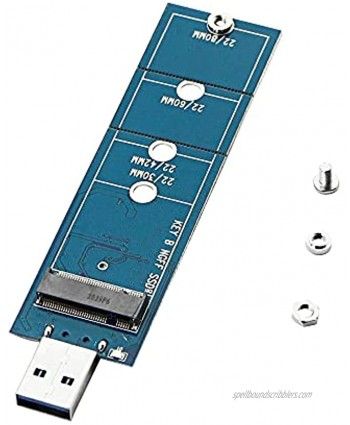CERRXIAN M.2 to USB Adapter M.2 NGFF SATA SSD B Key to USB 3.0 Type A Card Transfer Speeds up to 5Gbps Support 2230 2242 2260 2280 for Windows XP  7 8  10 MAC OSB