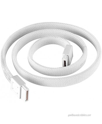 Silverstone SATA III SSD HDD Cable with Locking Mechanism in White CP07W-USA